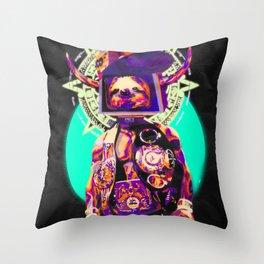 SLOTHBOX KING OF DOOM Throw Pillow