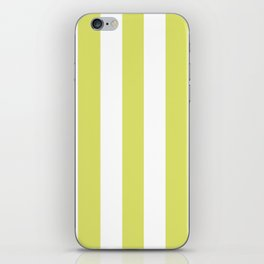 Bored accent green -  solid color - white vertical lines pattern iPhone Skin
