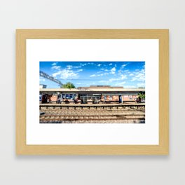 Miniature People at the Station Framed Art Print