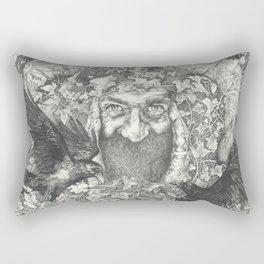 The Green Man  Rectangular Pillow