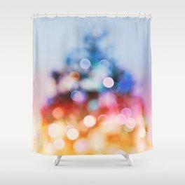 Xmas tree#abstract#bokeh Shower Curtain