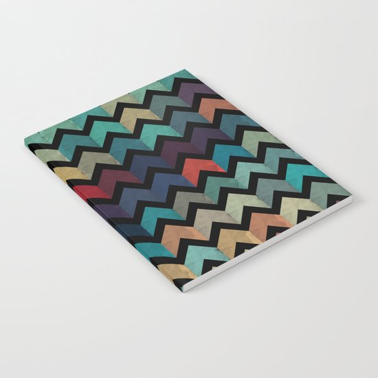 Colorful Chevron Pattern Notebook