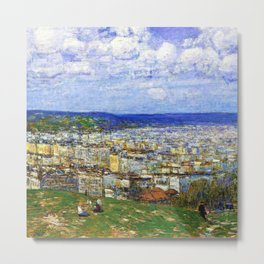 Classical Masterpiece 'View of New York from Fort George' by Frederick Childe Hassam Metal Print