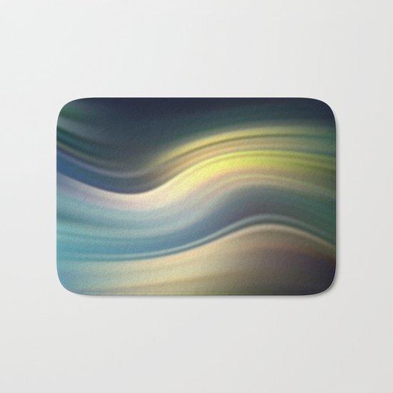 Moonlight Sonata. Abstract modern wavy flowing silk, satin, smooth Bath Mat