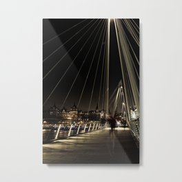 Golden Jubilee Bridge - City of London - UK Metal Print