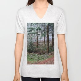 the red forest crossing Unisex V-Neck