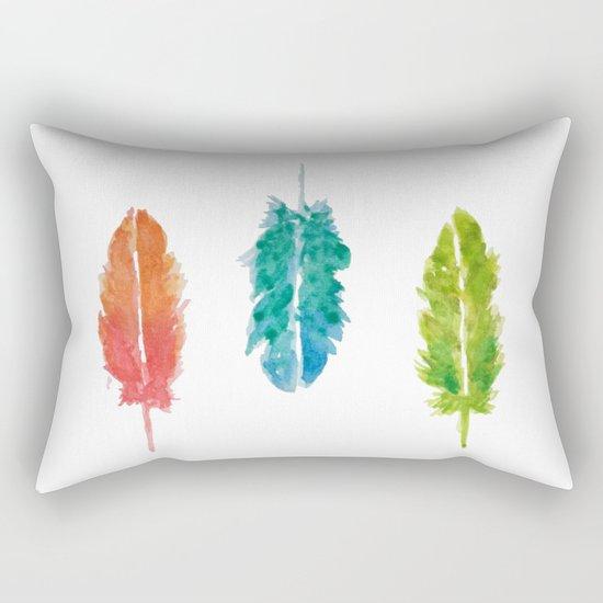 Vibrant color feathers Rectangular Pillow