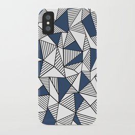 Abstraction Lines with Navy Blocks iPhone Case