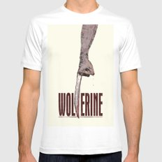 X-Men Origins: Wolverine White Mens Fitted Tee MEDIUM