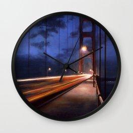 Straight Until Night Wall Clock