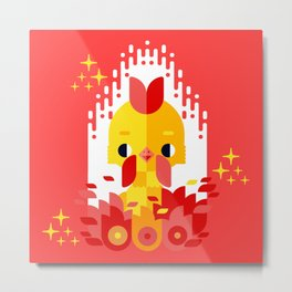 Year of the Rooster Metal Print