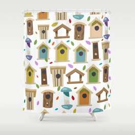 Bird Feeders Shower Curtain