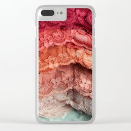 Rainbow Lace Clear iPhone Case