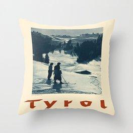 Vintage poster - Tyrol Throw Pillow