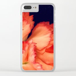 Carnation Elegance II Clear iPhone Case