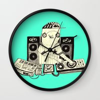 dj Wall Clocks featuring DJ  by Mr. JJ