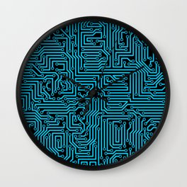 Reboot BLUE Wall Clock