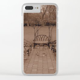 Outdoor Gathering Clear iPhone Case