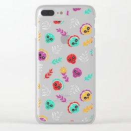 Fiesta Skulls #society6 #skulls Clear iPhone Case