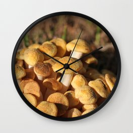 Just a Cluster of Mushrooms Wall Clock