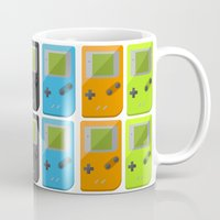 gameboy Mugs featuring GAMEBOY COLOR 2 by soycocon