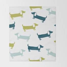 Lovely dachshunds in great colors Throw Blanket