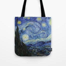 The Starry Night by Vincent van Gogh Tote Bag