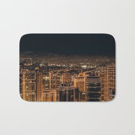 Somewhere in China – City by night Bath Mat