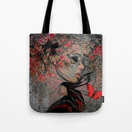 WITH THE GRACE OF A WOMAN Tote Bag