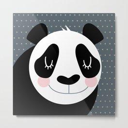 Panda - B/W Metal Print