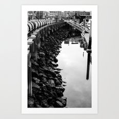 along the shore Art Print