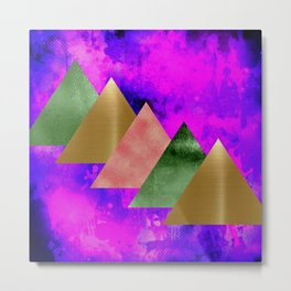 meta triangles Metal Print