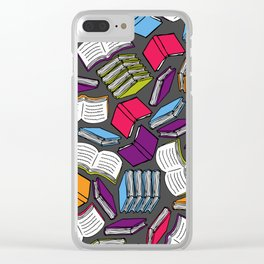 So Many Colorful Books... Clear iPhone Case
