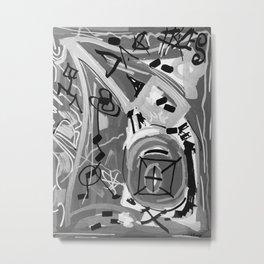 Série Gris 1 de 4 Paint Marker Acrylique/Acrylic Metal Print