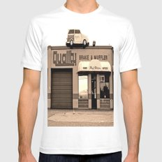 Car on roof MEDIUM White Mens Fitted Tee