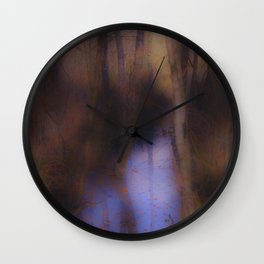 Creek in the autumn mist  Wall Clock