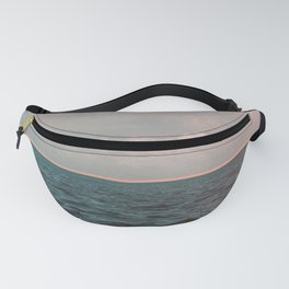 Turquoise Ocean Peach Sunset Fanny Pack