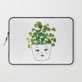 Shamrock Face Vase Laptop Sleeve