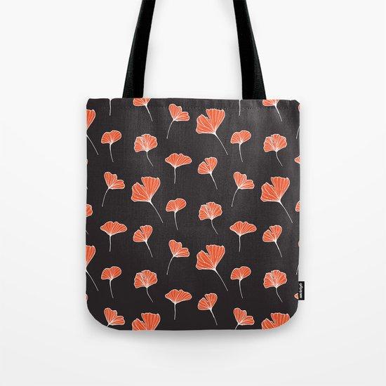 Ginkgo Biloba Leaves Pattern Dark #society6 #decor #buyart Tote Bag