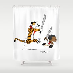 Bonifacio and Hobbes Shower Curtain