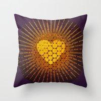 eternal sunshine Throw Pillows featuring eternal love  by miche
