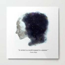 The World In My Mind Metal Print