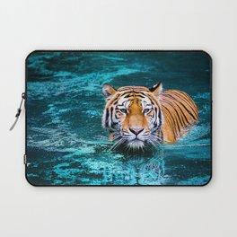 Tiger in Water Laptop Sleeve