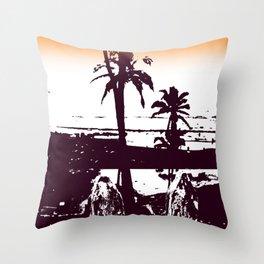 Goa palm trees Throw Pillow