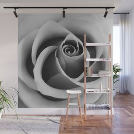 Rose Flower Close Up Black and White Floral Photography Wall Mural