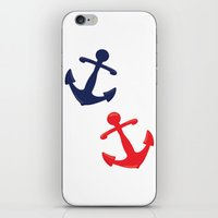 anchors iPhone & iPod Skins featuring Anchors by Indulge My Heart