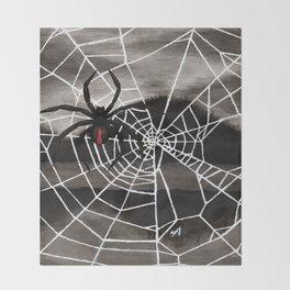 Redback Spider Throw Blanket
