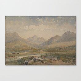 Welsh landscape, United Kingdom, by David Cox Junior. Canvas Print