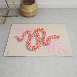 Tropical Serpent – Coral & Pink Palette Rug