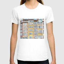 Quai de Saone, Lyon, France, French facade T-shirt